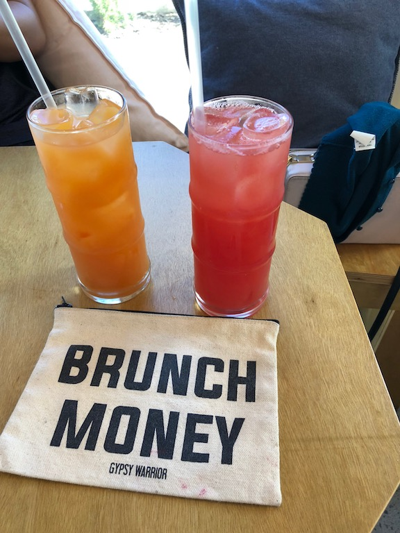 Sunny side up and watermelon juice