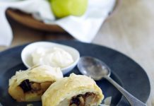 Australian Pears - Packham_s Triumph pears and Cinnamon Strudel with Vanilla Bean Ice Cream