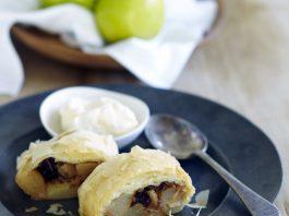 Australian Pears - Packham_s Triumph pears and Cinnamon Strudel with Vanilla Bean Ice Cream