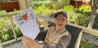 Resident with his letter