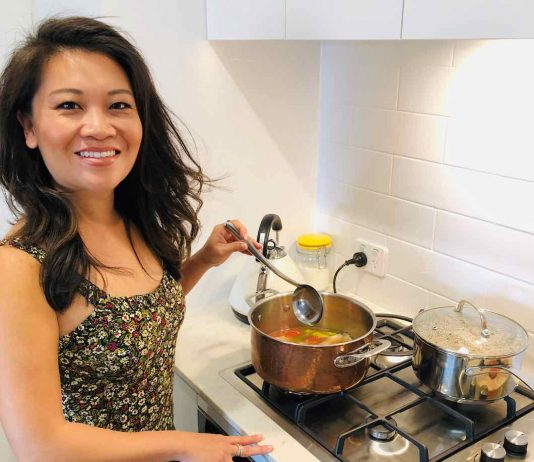 Tracy Vo cooking Canh Chua