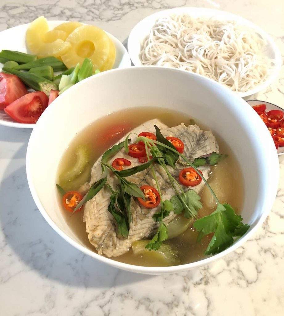 Canh Chua (Vietnamese sweet and sour soup with fish)