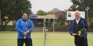 Manning TC's Club Captain Dwayne Agustin and President Rod Philp