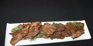 Lamb chops in red wine