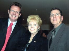 Peter Keogh, Debbie Reynolds and Sacha Mahboub