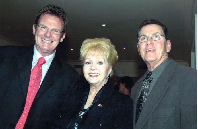 Peter Keogh, Debbie Reynolds and Sacha Mahboub