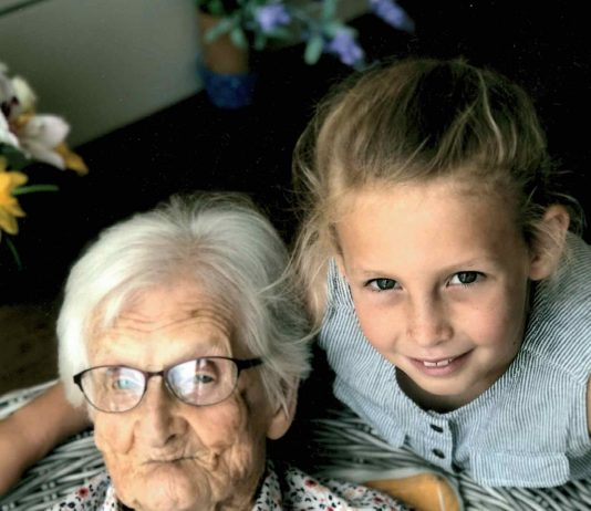 Grace Alexander with her great-granddaughter Olivia Brain.