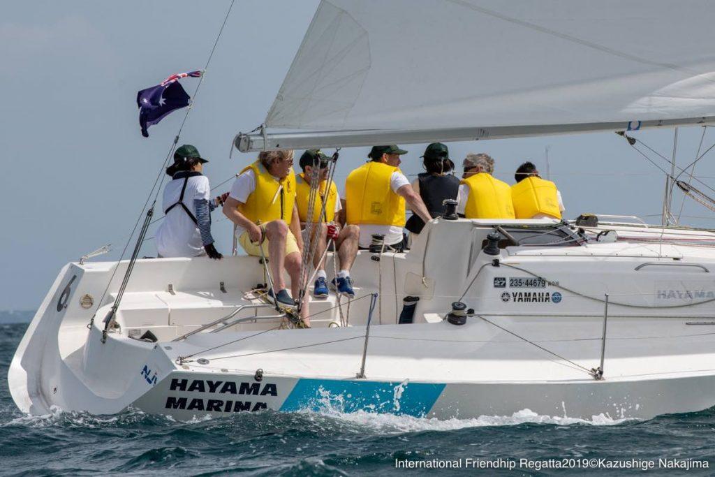 Richard Court skippering the international regatta