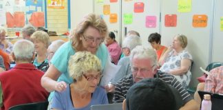 Seniors learning computers