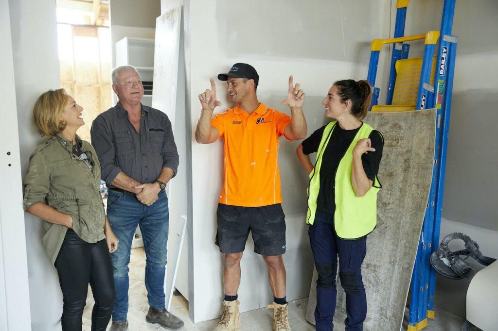 The Block's Shelley Craft, Scott Cam with Perth's Luke and Jasmin
