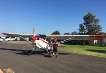 One of the pilots at Bunbury Aero Club