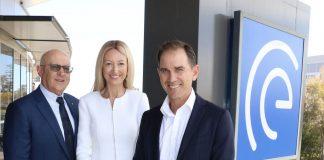 ESIA Chairman of the Board John Schaffer, ESIA CEO Sandra Bellekom and Justin Langer