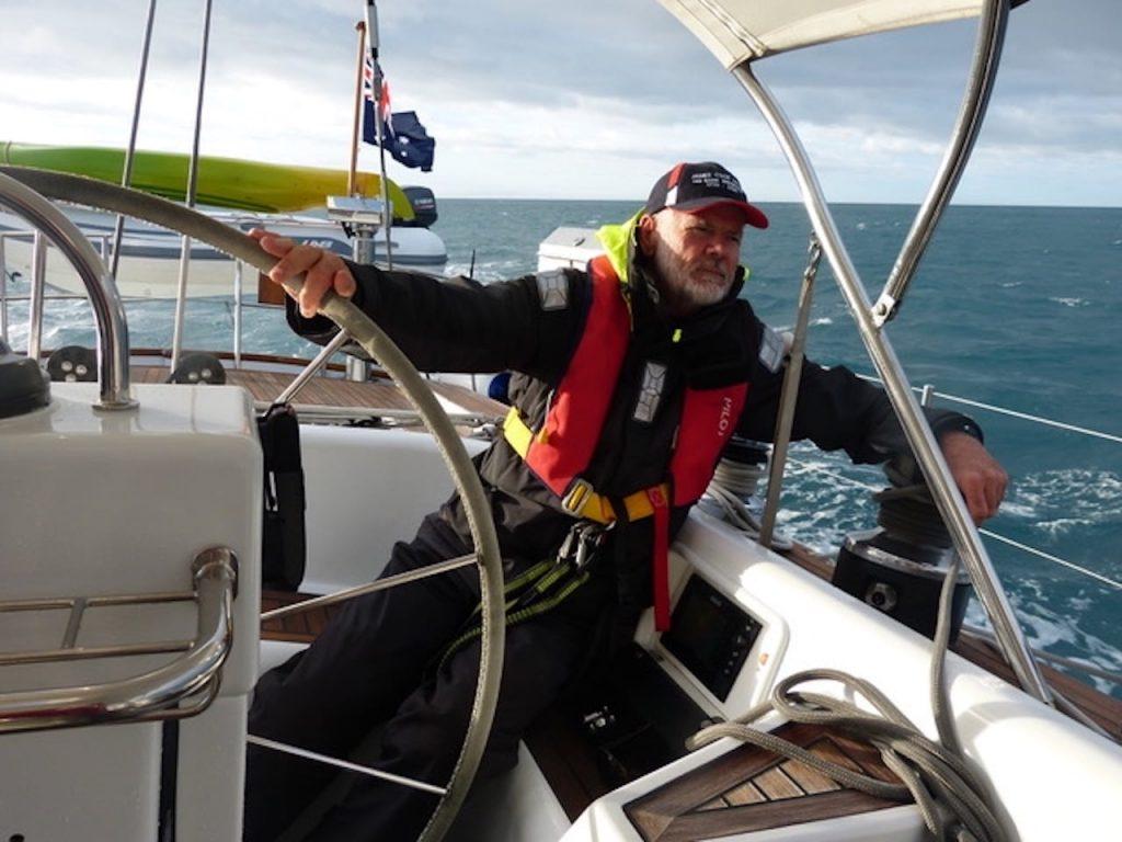 John Longley at the helm