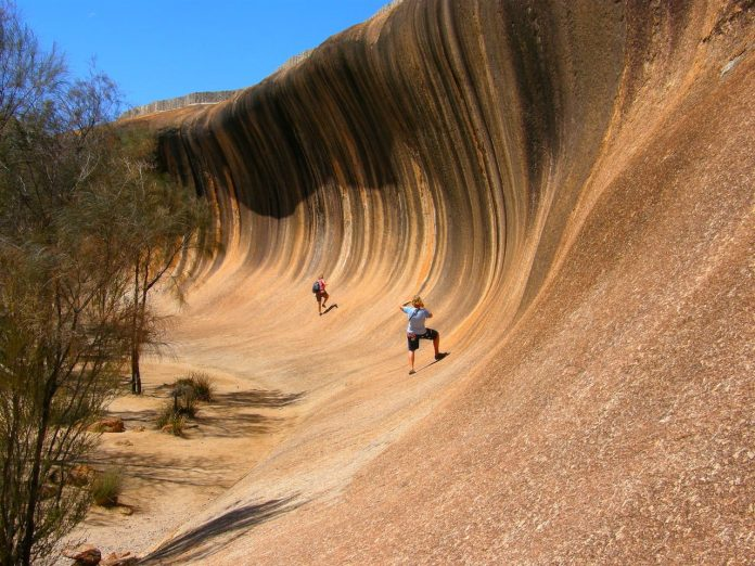 The wave at Wave Rock