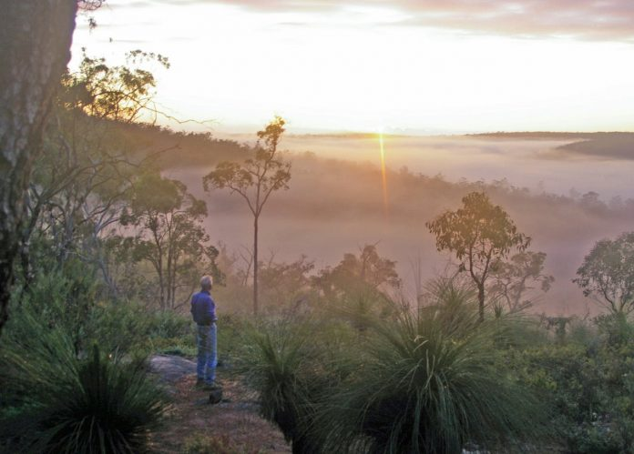 A magic moment: dawn breaks over the Helena Valley