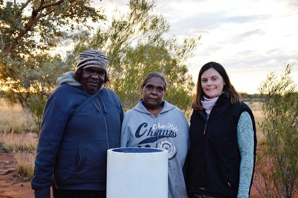 Carmen with Aboriginal elders