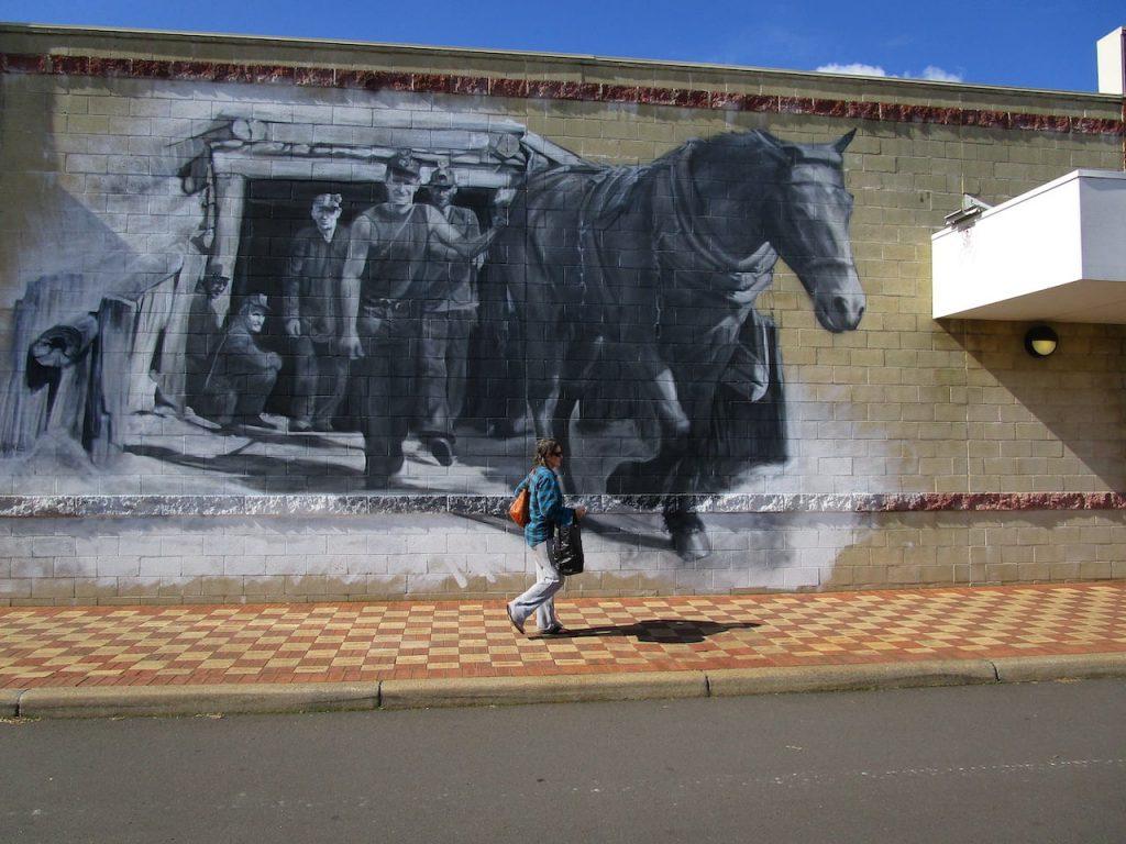 Jacob Butler (Shakey)'s mural Collie Underground Coal Miners