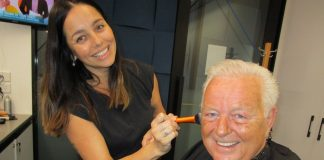 Johnny Young and make-up artist Nicole Forde